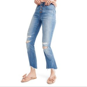 Madewell Crop Distressed Boyfriend Jeans